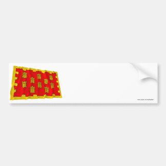 Greater Manchester Waving Flag  Car Bumper Sticker