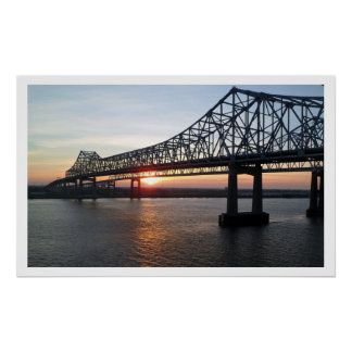 Greater New Orleans Bridge at Sunset Posters