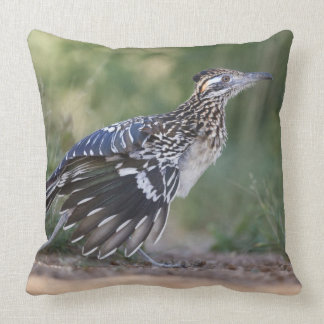 Greater Roadrunner in Texas 2 Throw Pillow