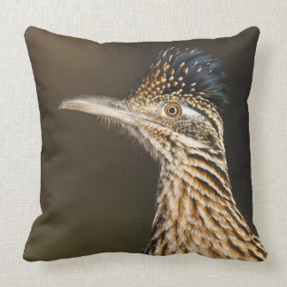 Greater Roadrunner in Texas Throw Pillow