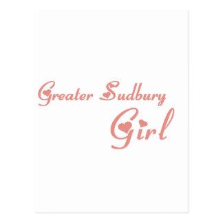 Greater Sudbury Girl Postcard