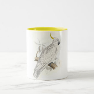 Greater Sulphur-Crested Cockatoo by Edward Lear Two-Tone Coffee Mug