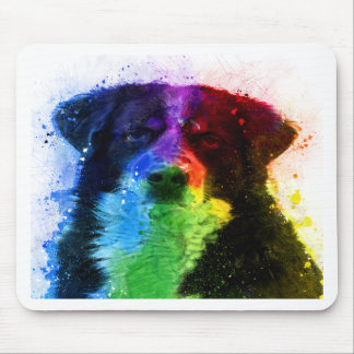 Greater Swiss /Bernese Mountain Dog Color Block Mouse Pad