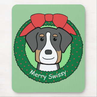 Greater Swiss Christmas Mouse Pad