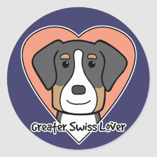 Greater Swiss Lover Stickers