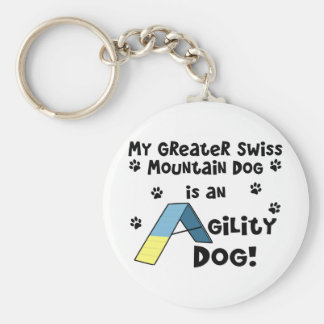 Greater Swiss Mountain Dog Agility Dog Keychain