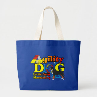 Greater Swiss Mountain Dog Agility Large Tote Bag