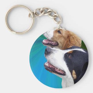 Greater Swiss Mountain Dog and St Bernard Dog Key Chains