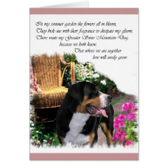 Greater Swiss Mountain Dog Art Gifts card