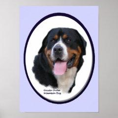 Greater Swiss Mountain Dog Art Print print