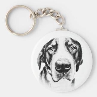 Greater Swiss Mountain Dog Basic Round Button Keychain