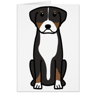 Greater Swiss Mountain Dog Cartoon Card