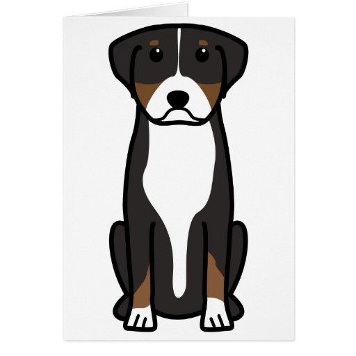 Greater Swiss Mountain Dog Cartoon Greeting Card