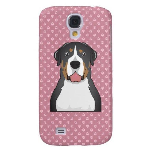 Greater Swiss Mountain Dog Cartoon Samsung Galaxy S4 Cases