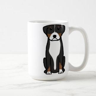 Greater Swiss Mountain Dog Cartoon Coffee Mug