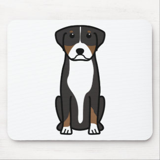Greater Swiss Mountain Dog Cartoon Mouse Pad