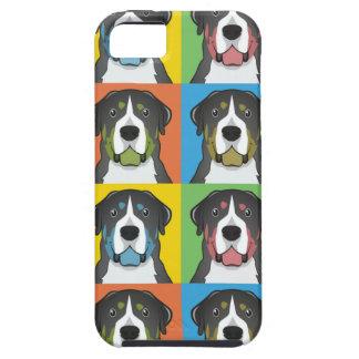 Greater Swiss Mountain Dog Cartoon Pop-Art iPhone SE/5/5s Case