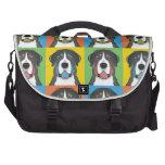 Greater Swiss Mountain Dog Cartoon Pop-Art Commuter Bags