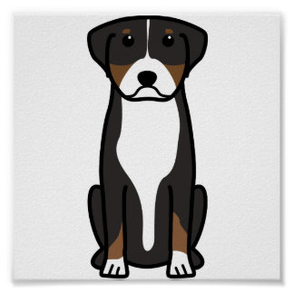 Greater Swiss Mountain Dog Cartoon Posters
