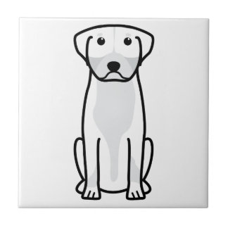 Greater Swiss Mountain Dog Cartoon Ceramic Tile