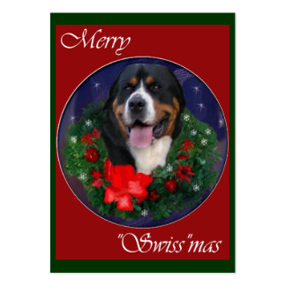 Greater Swiss Mountain Dog Christmas Gifts Business Card Templates