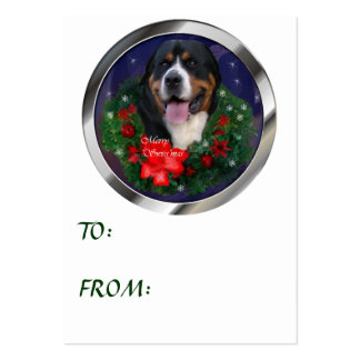 Greater Swiss Mountain Dog Christmas Gifts Business Cards