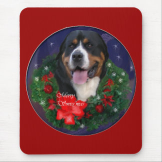 Greater Swiss Mountain Dog Christmas Gifts Mouse Pad