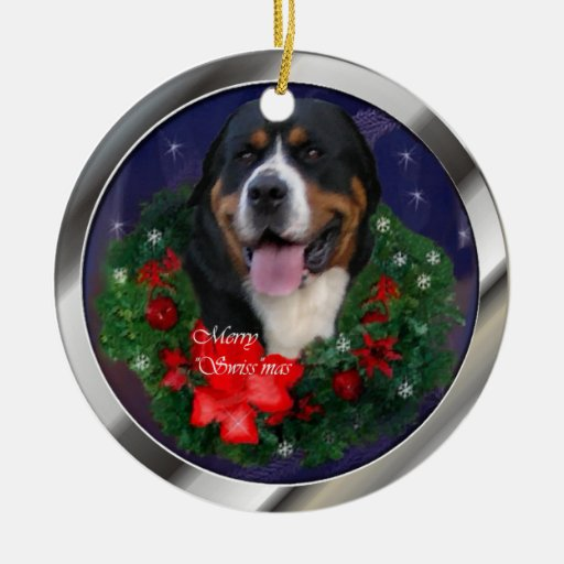 Greater Swiss Mountain Dog Christmas Ornament