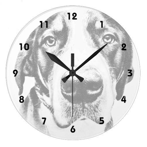 Greater Swiss Mountain Dog Round Wall Clock