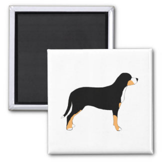 greater swiss mountain dog color silhouette refrigerator magnet