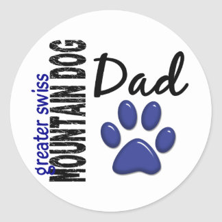 Greater Swiss Mountain Dog Dad 2 Classic Round Sticker