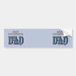 Greater Swiss Mountain Dog DAD Bumper Sticker