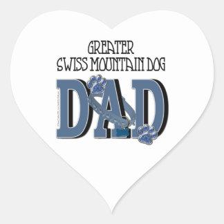 Greater Swiss Mountain Dog DAD Heart Sticker