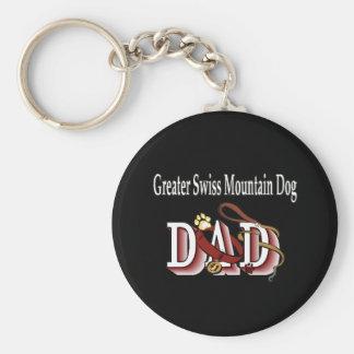 greater swiss mountain dog dad Keychain