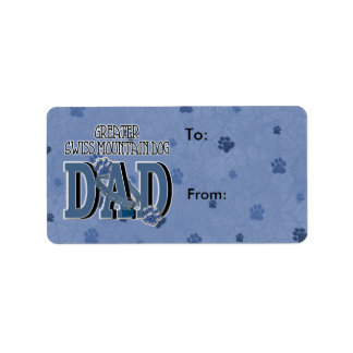 Greater Swiss Mountain Dog DAD Address Label