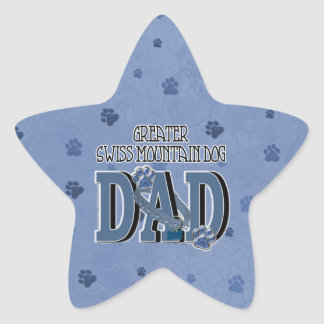 Greater Swiss Mountain Dog DAD Star Sticker