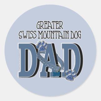 Greater Swiss Mountain Dog DAD Round Sticker