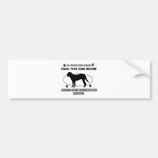 Greater swiss mountain dog designs bumper sticker