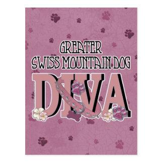 Greater Swiss Mountain Dog DIVA Postcard