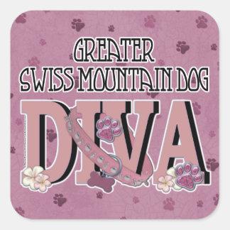 Greater Swiss Mountain Dog DIVA Square Sticker