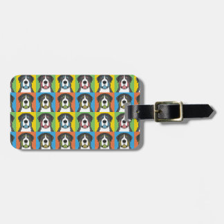 Greater Swiss Mountain Dog Dog Cartoon Pop-Art Tag For Luggage