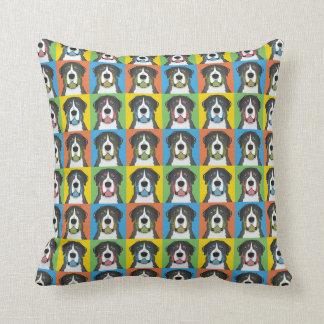 Greater Swiss Mountain Dog Dog Cartoon Pop-Art Throw Pillow
