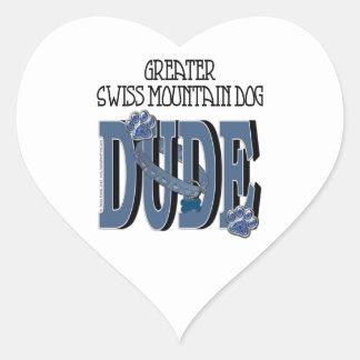 Greater Swiss Mountain Dog DUDE Heart Sticker