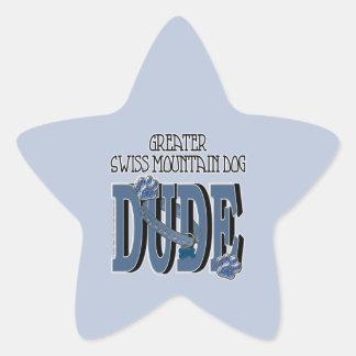 Greater Swiss Mountain Dog DUDE Star Sticker