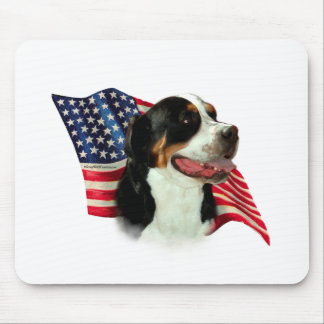 Greater Swiss Mountain Dog Flag Mouse Pad