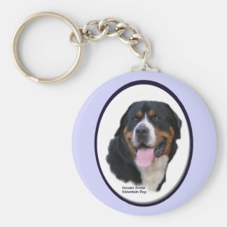 Greater Swiss Mountain Dog Gifts Basic Round Button Keychain