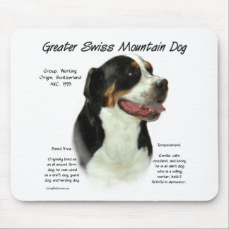 Greater Swiss Mountain Dog History Design Mouse Pad