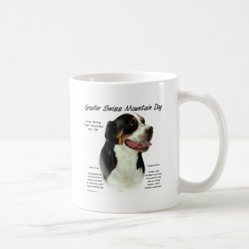 Greater Swiss Mountain Dog History Design Coffee Mug