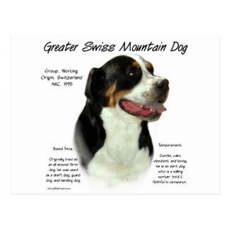 Greater Swiss Mountain Dog History Design Postcard