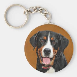 Greater Swiss Mountain Dog Keychain